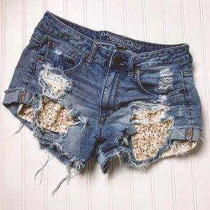 American Eagle Sequin Pocket Shorts Size 6